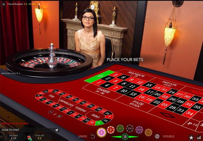 Paris possible sur la Roulette en Live