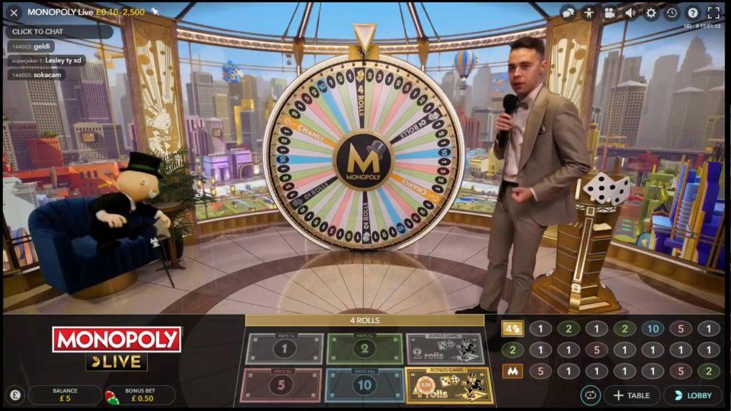 Paris possible sur Monopoly Live